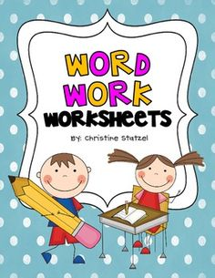 Word Work worksheets.  My goal for this and future years is to rotate out/in at least two Word Word activities each month to keep it fresh.