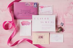 Radiant Orchid Invitation Suite | Coral Pheasant
