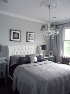 Bedroom:Remarkable Silver Bedroom Design Suggestions In Wonderful Current Furnishings! Remarkable Unique Silver Bedroom Design Ideas Photo Latest Finest Gallery Which May Create Your Home Appear Beautiful Also Warm Silver Bedroom, Glam Bedroom, Home Decor Bedroom, Bedroom Ideas, Theme Bedrooms, Grey Bedrooms, White Bedroom, Bedroom Inspiration, White Headboard