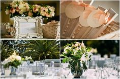 Vintage styling in blush pink, peach and cream