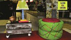 Decoração com objetos recicláveis