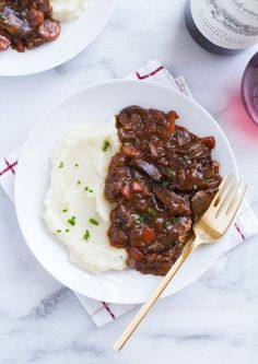 "This Vegan Mushroom Bourguignon is a healthy and comforting meal that's perfect for a romantic night in. It's naturally gluten-free too! Love is in the air! Can you feel it? I know Valentine's Day is considered a ""Hallmark holiday"" but I can't help feeling lovey dovey this time of year. It probably has something to …"