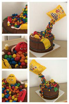 Gateau chocolat m&m's Cake m&m's