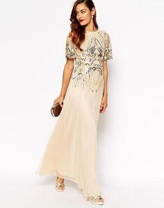 ASOS RED CARPET Sparkle Embellished Mesh Maxi Dress at asos.com #embellisheddress #women #celebrity #redcarpet #covetme