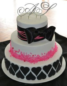 rock candy wedding - by candyscakes @ CakesD - cake decorating Fancy Cakes, Cute Cakes, Pretty Cakes, Beautiful Cakes, Amazing Cakes, Beautiful Flowers, Fondant Cakes, Cupcake Cakes, Zebra Cakes