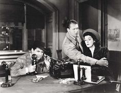 His Girl Friday - Cary Grant, Ralph Bellamy, Rosalind Russell Hollywood Icons, Hollywood Actor, Hollywood Actresses, Classic Hollywood, Old Hollywood, I Movie, Movie Stars, Friday Movie, Beloved Film