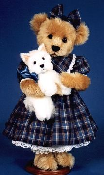 "Mary Holstad's Official Website - Teddy Bears, Dogs, Cats, Cottage Collectibles ""Bonnie Jean & MacTavish"", a 1996 Toby Award Winning Limited Edition Made for ""Beary Beary Beautiful"" Teddy Bear Shop in Florida."