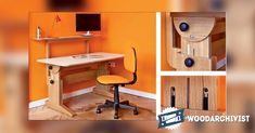 Study Desk Plans - Furniture Plans and Projects | WoodArchivist.com