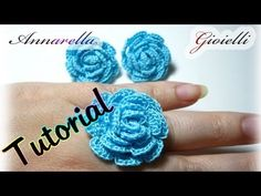 Tutorial orecchini e anello all'uncinetto, crochet earrings ring - YouTube Crochet Ring Patterns, Crochet Earrings Pattern, Crochet Rings, Wire Crochet, Crochet Bracelet, Crochet Art, Crochet Doilies, Crochet Flowers, Bijoux Shabby Chic