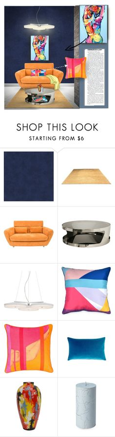 """""""Portrait of a lady"""" by rachelbarkho ❤ liked on Polyvore featuring interior, interiors, interior design, home, home decor, interior decorating, Versace, White Label, Ligne Roset and Baxton Studio"""