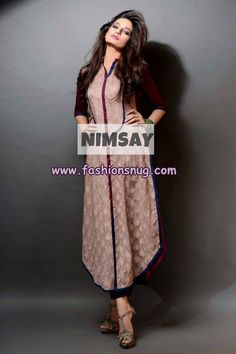 Nimsay Eid Arrivals 2013 For Women 008 Pakistani Outfits, Indian Outfits, Pakistani Clothing, Indian Attire, Indian Wear, Kurta Designs, Dress Designs, Colourful Outfits, India Fashion