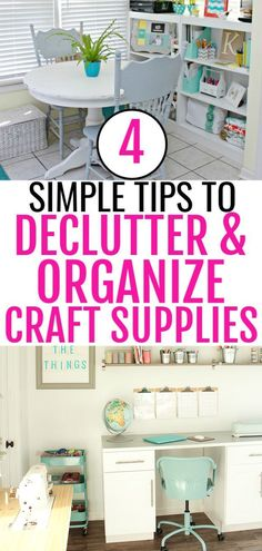 Beautiful DIY tips to help you organize craft supplies and create the craft room of your dreams! Including ideas for creating a craft closet if you have a small space to work with. Craft Closet Organization, Small Space Organization, Craft Room Storage, Organize Craft Closet, Scrapbook Organization, Workshop Organization, Small Craft Rooms, Craft Storage Ideas For Small Spaces, Cricut Craft Room