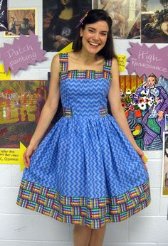 crayon dress...would be a cute apron for class