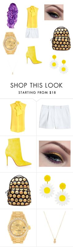 """""""The Yellow Fellow"""" by catlover786 ❤ liked on Polyvore featuring Moschino, Canvas by Lands' End, Christian Louboutin, Rolex and Wanderlust + Co"""