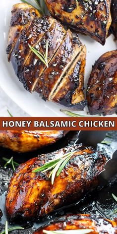Honey Balsamic Chicken starts with a simple marinade of tangy balsamic vinegar and sweet honey and is then topped with a delightful balsamic glaze.