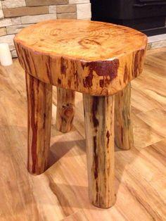 Rustic log wood stool furniture