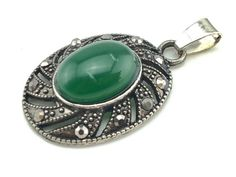 Green Onyx, Green Necklace, Marcasite, Are You The One, Happy Shopping, Promotion, Gemstone Rings, Corner, Etsy Shop
