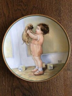 """Bessie Pease Gutmann """"Mine"""" Ltd Edition Collectors Plate COA and Boxed"""