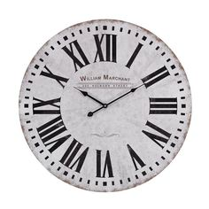 Sterling Industries 171-005 Aged White Analog Wall Clock White Home Decor Clocks Wall Clocks