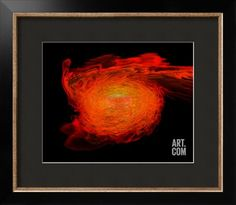 A Pair of Neutron Stars Colliding, Merging, and Forming a Black Hole Art Print at Art.com