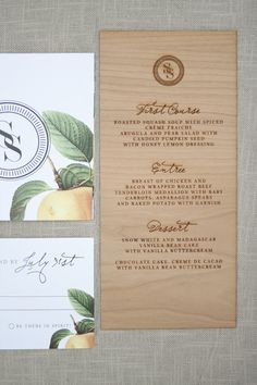 Wood Engraved Wedding Invitations via Oh So Beautiful Paper (6)