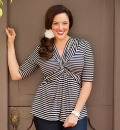 Cute top!! Kiyonna has great plus size ladies clothing - about time someone did!