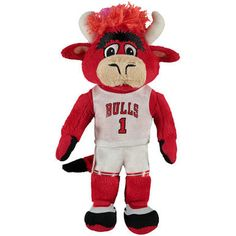 Chicago Bulls 10 Inch Benny The Bull Plush Doll - Red