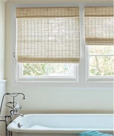 Transitional Window Shade from Smith + Noble, Model: Natural Roman Flat Fold Shade