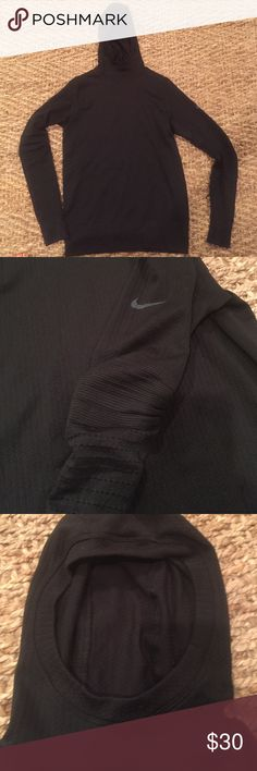 Nike Pro Cold weather running shirt Wore once!  Great for cold weather running! Nike Pro Tops Tees - Long Sleeve