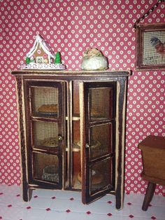 Miniature Primitive Pie Safe By MMMminitreasures On Etsy, $45.00