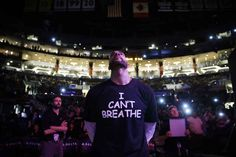 "A California high school has banned students competing in an inter-school basketball tournament from wearing the ""I Can't Breathe"" shirts worn by NBA players and protesters in memory of the last words of Eric Garner, the AP reported Saturday."