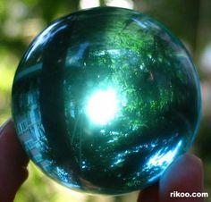 Ocean Blue Obsidian Crystal Ball
