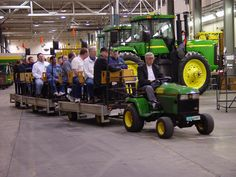 Waterloo, IA... John Deere Tractor-trolley tour ! Its a cool tour that you get to see a robot spray paint the tractors green! The best part is the tour is free!
