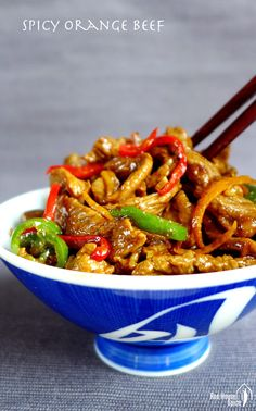 Spicy orange beef stir-fry (橙味牛肉) – Red House Spice