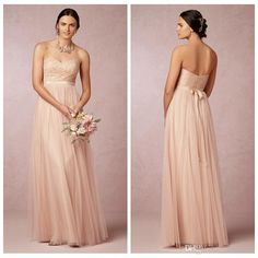 Sage Convertible Dress Bridesmaid Dress Green Tulle Removable Strap Long Sweetheart Formal Dresses Cheap 2014 BHLDN Wedding Party Dresses, $87.53   DHgate.com