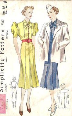 1930s Misses Dress and Jacket
