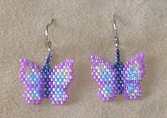 Beaded Butterfly Pow Wow Earrings E74. $5.00, via Etsy.
