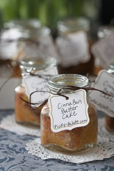 Cinna-Bunn Butter Cakes in a jar