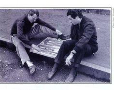 Alfonso de Portago - à gauche essai d'une Ferrari...