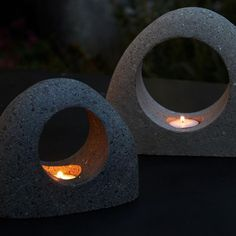 25 ideas diy lamp concrete candle holders for 2019 Cement Art, Concrete Cement, Concrete Crafts, Concrete Projects, Concrete Design, Concrete Candle Holders, Diy Candle Holders, Diy Candles, Art Concret
