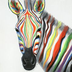 Bloomsbury Market Leinwandbild Zebra's Face in Grant Wood Grant Wood, Zebra Face Paint, Canvas Art, Canvas Prints, Painting Canvas, Leonid Afremov Paintings, Living Room Art, Bloomsbury, Painting Prints