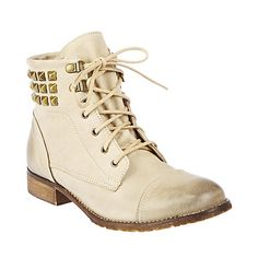 RUTHLESS TAUPE LEATHER women's bootie mid western - Steve Madden