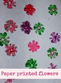 Paper flower stamping