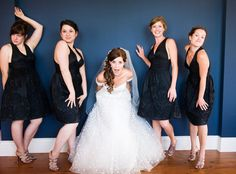 Pin for Later: 40+ Adorable Photos You Need to Take With Your Bridesmaids Playful Personalities See the full wedding here. Photo by Glen Durrell Photography