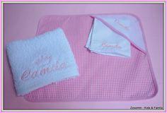 Mantelito individual, servilleta y toallita para el cole