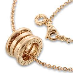 Bulgari Tubogas necklace 18k gold