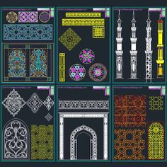 Autocad islamic and decoration on pinterest for Architecture design com