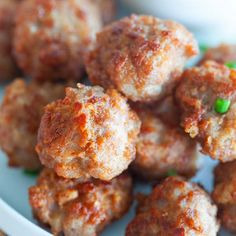 Fried Meatballs - Rasa Malaysia Best Cod Recipes, Easy Delicious Recipes, Good Healthy Recipes, Best Chinese Food, Easy Chinese Recipes, Asian Recipes, Classic Meatball Recipe, Meatball Recipes, Tasty Meatballs