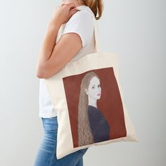 """Woman on red "" Tote Bag by BlertaDK 