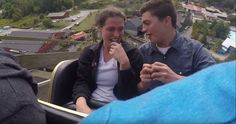This Guy Proposed To His Girlfriend While On A Roller Coaster And Caught The Whole Thing On Camera
